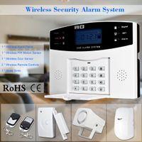 Wholesale Wireless GSM Home Burglar Security Alarm System Detector Sensor Kit Remote Control MHz Intelligent Surveillance System order lt no track
