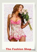 baby doll lingeries - Sexy Lingeries Pink Baby Dolls Nightwear YH6033 Free Size