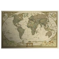 antique maps - Antique Vintage Style Retro Paper Poster Educational The World Map Decor Scratch Map Giant of the Atlas dandys