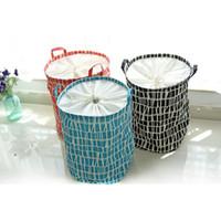 beverage can printing - Black Red Blue Color Can Choose Zakka Home Storage Toys Basket Printing Stripe Designs Linen Laundry Clothes Hamper Baskets