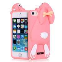 apple bunnies - For iPhone S S S Plus phone case with Cartoon Cute Bunny Buck teeth rabbit Soft Silicon D Rubber Back Cover Shockproof Protective