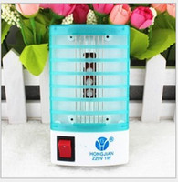 Wholesale 220V V Mosquito Killer Fly Bug Insect Trap Zapper Repeller Mini LED Electric Killer Night Lamp KB114