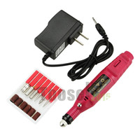 Wholesale V Pen Shape Electric Nail Drill Art Manicure File Polish Buffing Pedicure Tool Bits FZJPE