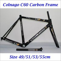 Wholesale 2016 Newest Carbon Frames Road Bike K Wave Full Carbon Fiber Cycling Frameset Black Painting Bicycle Accessories Lightweight