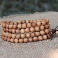 al por mayor rosario indio-Sándalo indio pulseras rosario pulsera de madera de sándalo pulsera 108 de sándalo sándalo cuentas de oración del rosario