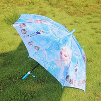 Wholesale Frozen Umbrella Frozen Princess Elsa Anna Olaf Rain and Sun Proof Children Umbrella cm Frozen Series for