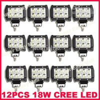 Wholesale 1pcs quot W LED W CREE LED Working Light Bar Off Road SUV ATV WD x4 Spot Flood Beam V lm IP67 JEEP Motorcycle Head Lamps