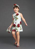 designer baby clothes - Wl Monsoon Baby Girls Dress D Rose Floral Cotton Brocade Children Clothing Designer Kids Clothing Girl Dress For Girls