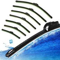 Wholesale Fashion Hot Car Flat U type Frameless Bracketless Rubber Windshield Windscreen Wiper Blade