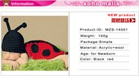 Cheap Ladybug Designs Crochet Baby Photo Props Infant Costume Outfits New Born Crochet Beanies Clothes sets of clothes for newborns