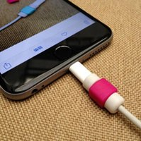 iphone 5 lightning cable - New USB Lightning Data Charger Cable Saver Protector Headset Earphone Wire Cord Protective For iPhone S S Plus ipad ipod Samsung