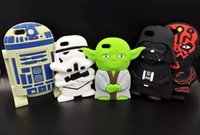 apple facial mask - 50pcs Star Wars D Silicone Phone Case Master Character Figure Yoda Soft Cover Facial Masks Case For iPhone S S Plus