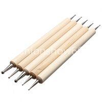 Wholesale Way Nail Art Tip Dotting Pen Wood Tools Set Manicure Painting Kit Design