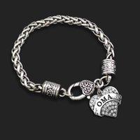 Cheap OMA Letter Best Heart Lobster Clasp Bracelets