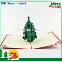 pop up greeting card - Cedar Christmas Tree D Pop Up Cards Handmade Kirigami Origami Greeting Cards