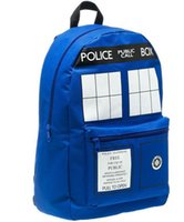 Wholesale Dr Who Tardis backpacks tv theme blue Dr Who fashion outdoor travel backpacks cool school bags