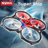 Wholesale 2015 Newest SYMA X6 Super Ship G CH AXIS Remote Control Quadcopter RC Helicopter Toys Present A Universal Adapter Plug