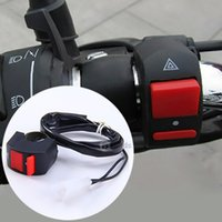 Wholesale New Arrival ATUniversal V MotorcycleBike Handlebar Stop Switch Double Flash Controller On off V A
