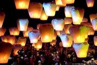 300 pcs / lot, Livraison gratuite, lanternes volantes, Promotion chinoise conventionnelle Sky Lantern, Festival des lanternes, 10 couleurs.
