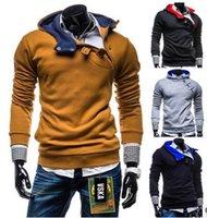 assassin creed hood - Hoodies Men Moleton Assassins Creed Sportswear Man Hoody Coat Jaquetas Masculina Fleece Hood Cardigan Tracksuit Sweatshirt