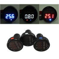 Wholesale New IN White Red Blue Display LED Digital Thermometer Voltmeter USB Charger Car