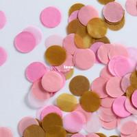 baby tissues - 1inch cm Party Confetti Wedding Birthday Confetti Baby Shower Confetti Tissue Paper Confetti Round Cut