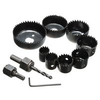 best circular saws - Best Price Hole Saw Cutting Set Kit mm Wood Metal Alloys Circular Round Case High Quality order lt no track