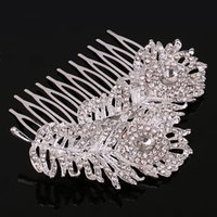 antique comb - New Fashion Wedding Hair Accessories Hot Sales Bridal Jewelry Stores Lovely Combs With Alloy Rhinestone For Women Girls Gift Ideas
