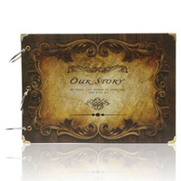 anniversary memory book - Retro DIY Album Handmade Manual Scrapbook Our Story Anniversary Gift Couple Baby Wedding Photo Square Memory Love Book