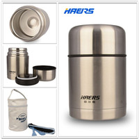 Wholesale Haers Insulated Food Jar With Bag ml Stainless Steel Insulated Food Container Vacuum Lunch Box Thermos for Kids HTH A