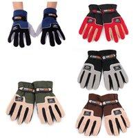 Wholesale Windproof Adjustable Outdoor Sport Gloves Men Full Finger Fleece Thermal Winter Ski Skiing Gloves Bike Bicycle Gloves
