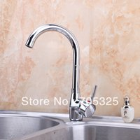 ad handles - Classic Single Handle Hot amp Cold Waterfall Chrome Finish Kitchen Basin amp Sink Mixer Tap Brass Faucet AD