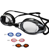Wholesale 2016 Fashion Anti fog Goggles Adults Swim Eyewear Polycarbonate Clear glasses Beach swim Goggle Diving Surfing Swimming Glasses