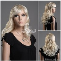 Wholesale white blond hair wigs for women wig weaves shops medium long wigs Synthetic fiber of Kanekalon pc ZL07W LG26