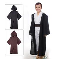 Wholesale Unisex Kids STAR WARS Robe Jedi Sith Cosplay Children Black Brown Hooded Cape Cloak Classic Halloween Costumes