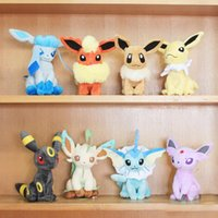 Wholesale New Styles quot Pokemon Pocket Monster plush toy Glaceon Leafeon Eevee Vaporeon Flareon Espeon Jolteon Umbreon stuffed doll Best gift