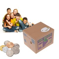 automated homes - Home Money Boxes Coin Piggy Bank Automated Savings Box Toy Gift Gray Steal Brand