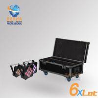 american battery charging - 6X Rasha Factory Price W in1 RGBAW UV Battery Wireless LED Flat Par Light American DJ Light With in1 Charging Road Case Fan