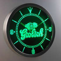 analog sign - nc0002 Grolsch LUMINOVA Neon Sign Bar Beer Decor LED Wall Clock Dropshipping