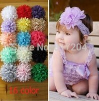 Wholesale Fashion Children Multilayer Chiffon Silk flowers Top petti skirt Hair Accessories Layered Lotu For Headband x110