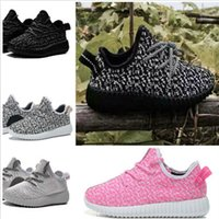 kids boots - Yeezy boost black boost Kanye West children running shoes sports shoes jogging girl boy kids shoe classic Ankle Boots