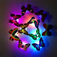 Wholesale Christmas Lights Ornaments Color Changing Butterfly LED Night Light Home Room Decor Decoration LED Night Light