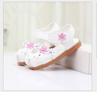 Wholesale 2015 children shoes Baby Girls Sandals Princess Flowers Toddlers Kids Children Shoes Colrs Size For Choice