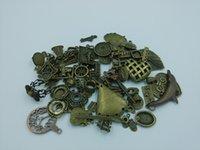 Wholesale 50g Antique Bronze Vintage Brass Charm Pendant Clasp Bead End Finding OTS004