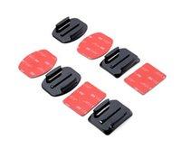 Wholesale Gopro accesorios unids Flat Mount Adhesive Curved Adhesive Mount Kit para Gopro Hero negro SJ4000 para Gopro Xiaomi yi accesorio