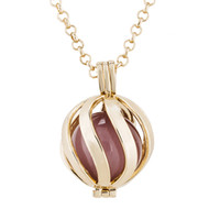 balls boxes including - Cage Locket Box Interchangeable Lockets Necklace Colors Brass Metal Maternity With Chain Not Including Ball
