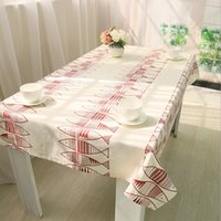 Wholesale Red Fish Cartoon Table Cloth Table Cover For Home Durable Restaurant Coffee Shop Table Overlay Table Linen quot x70 quot x86 quot J2