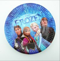 Wholesale Hot selling New Frozen children party supplies cake plate children s birthday party supplies paper tray LJJD1062