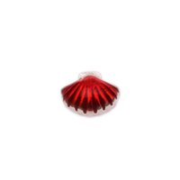 Charms clip on charms - 2015 New Arrival Clip On Charms shells Silver Plated Enamel Red Fits floating charms lockets Diy Jewelry