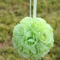 artificial flower ball - Many colors Becautiful Artificial Silk Flower Rose Balls Wedding Centerpiece Pomander Bouquet Party Decorations Hot sale